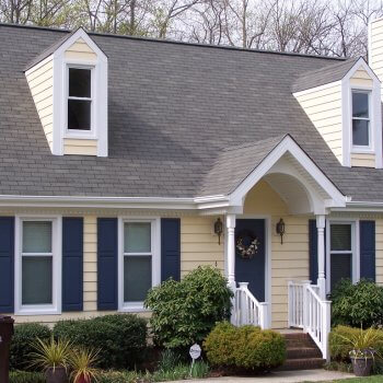 house with siding on it