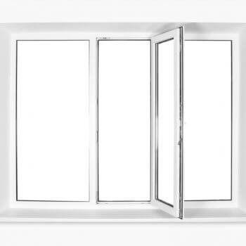 double pane triple window with a white background