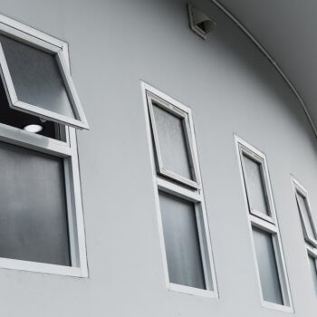 row of awning windows on a building
